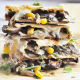 Mushroom Corn Truffle Quesadillas (gluten-free, healthy-ish, vegetarian)