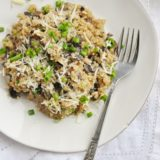 Mushroom Quinoa Risotto (10 ingredients, gluten free, vegetarian)