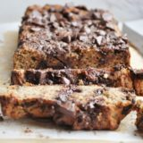 Peanut Butter Chocolate Chip Banana Bread (10 ingredients, flourless, dairy free, gluten free)