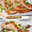 Honey Glazed Ginger Garlic Salmon (gluten-free, dairy-free, high protein)