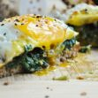Avocado Toast with Spinach & Egg (healthy, dairy-free, whole wheat, high protein, high fiber)